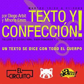 Texto y Confección - Taller de escritura, performance y literatura queer